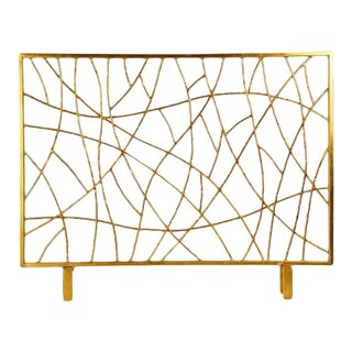 Gold Iron Twig Firescreen For Sale