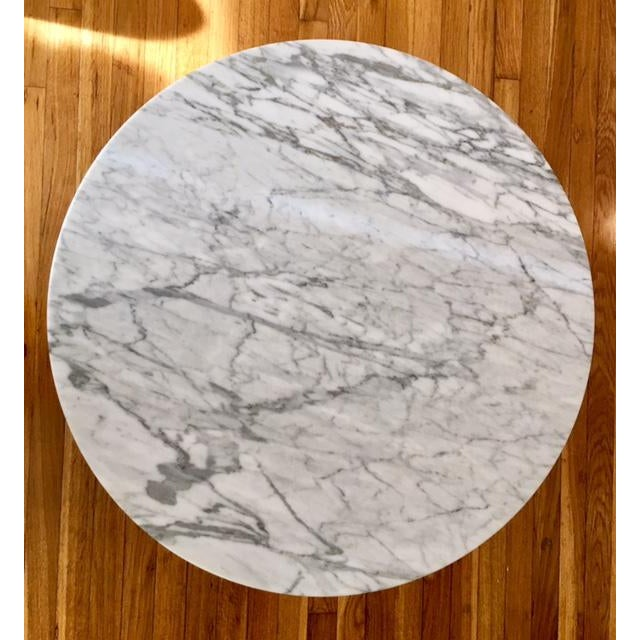 Round Marble Top Greek Key Patterned Coffee Table - Image 3 of 6
