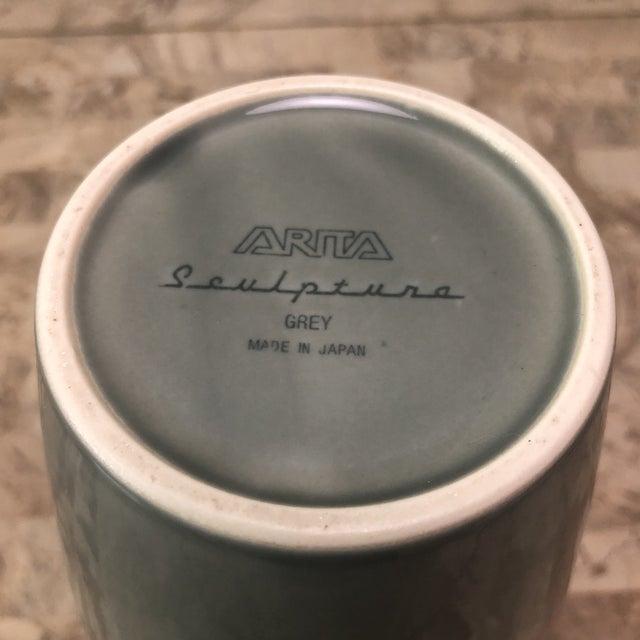 Modern Arita Sculptura Grey Vase For Sale - Image 3 of 6