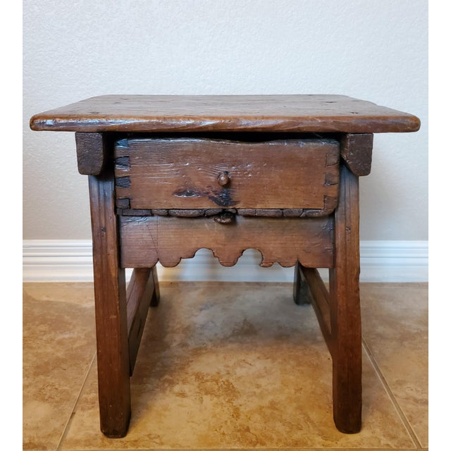 Early 18th Century Spanish Colonial Rustic Small Table For Sale - Image 10 of 12