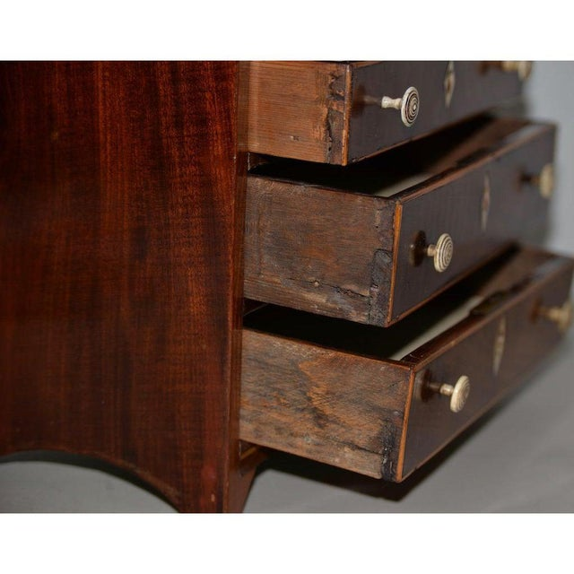Mid 19th Century Rare 19th Century Miniature Mahogany Salesman Sample Chest of Drawers W/ Inlay For Sale - Image 5 of 11