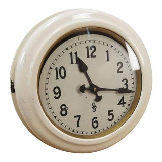 Art Deco Factory Wall Clock from Siemens & Halske For Sale
