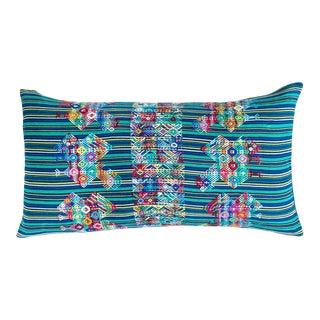 Vintage Mayan Textile Pillow Cover For Sale