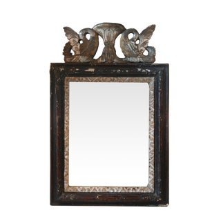 Italian Painted Reproduction Mirror With Swans
