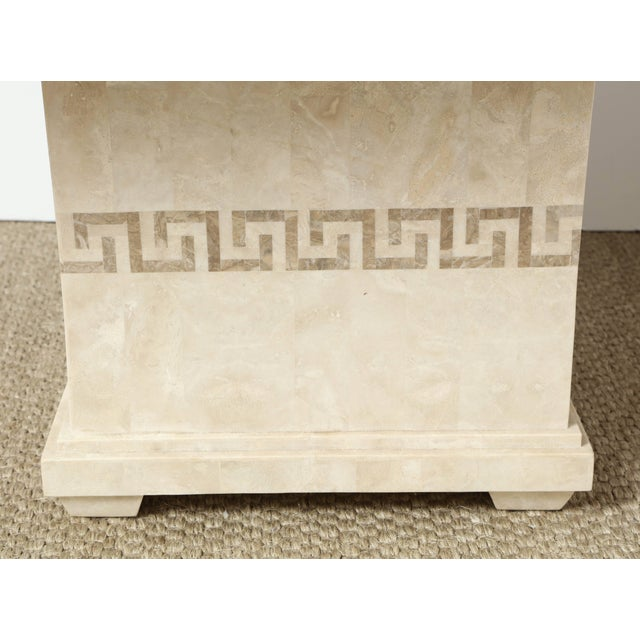 French Square Marble Dining or Conference Table For Sale - Image 3 of 11
