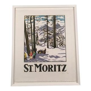 St. Moritz Framed Travel Poster After Emile Cardinaux