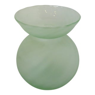 Italian Globe-Shaped Glass Vase For Sale