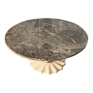 Vintage Italian Grey Marble Coffee Table For Sale