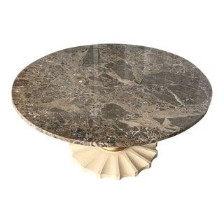 Vintage Italian Grey Marble Coffee Table