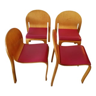 Danko Plywood Dining Chairs - Set of 4
