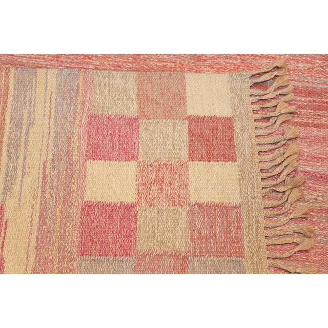 Vintage Scandinavian Art Deco Flat Carpet - 7′3″ × 10′8″ For Sale - Image 9 of 10