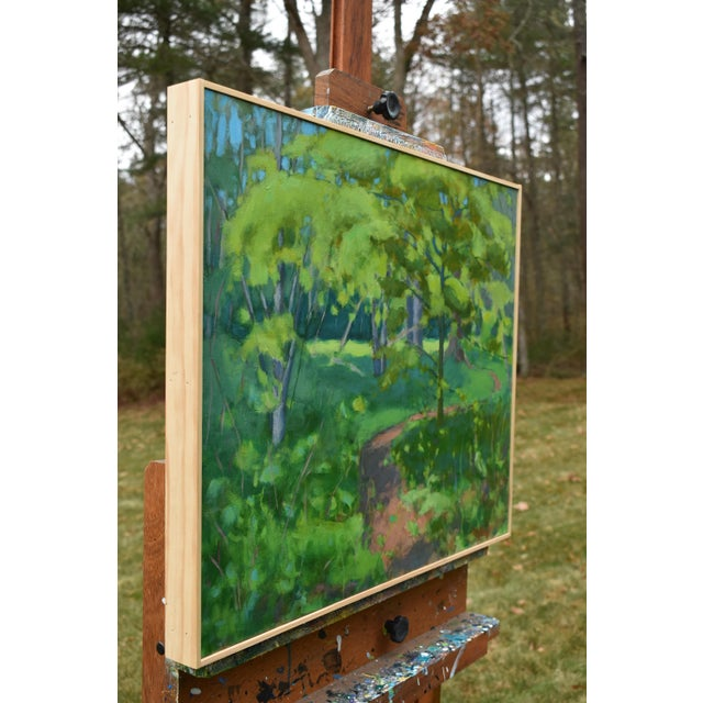 "Stephen Remick Stephen Remick ""S-Curve by the Beech Tree"" Landscape Painting For Sale - Image 4 of 11"