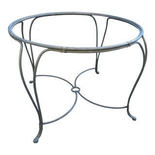 Iron Faux Bois Garden Table For Sale