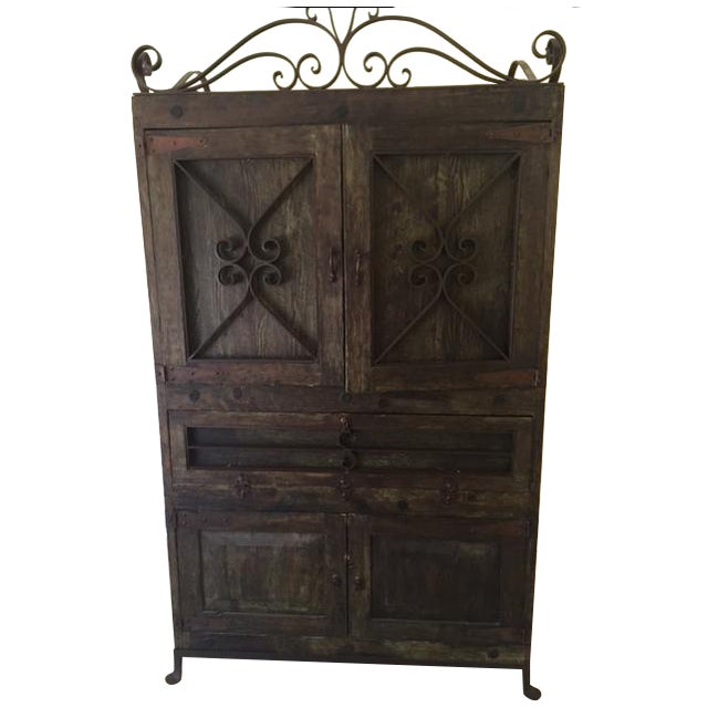 Vintage Spanish-Style Armoire - Image 1 of 4