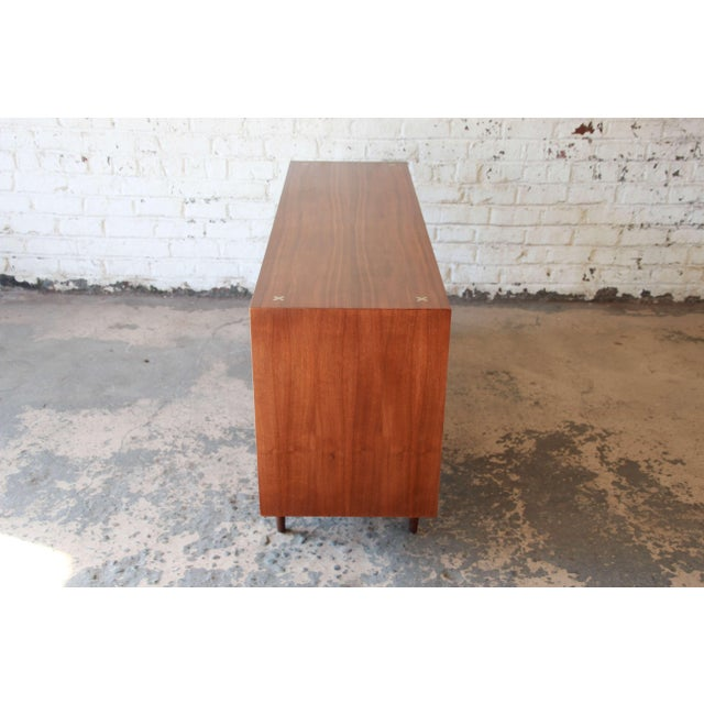 Brown Merton Gershun for American of Martinsville Mid-Century Modern Walnut Long Dresser or Credenza For Sale - Image 8 of 11