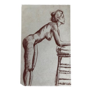Standing Female Nude Figure Drawing For Sale