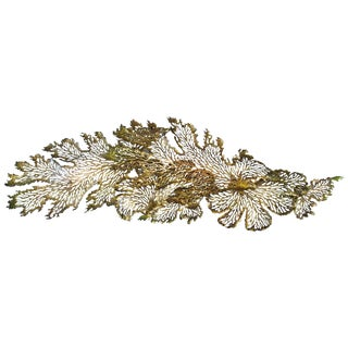 Gold and Bronze Leaf Iron Wall Sculpture For Sale