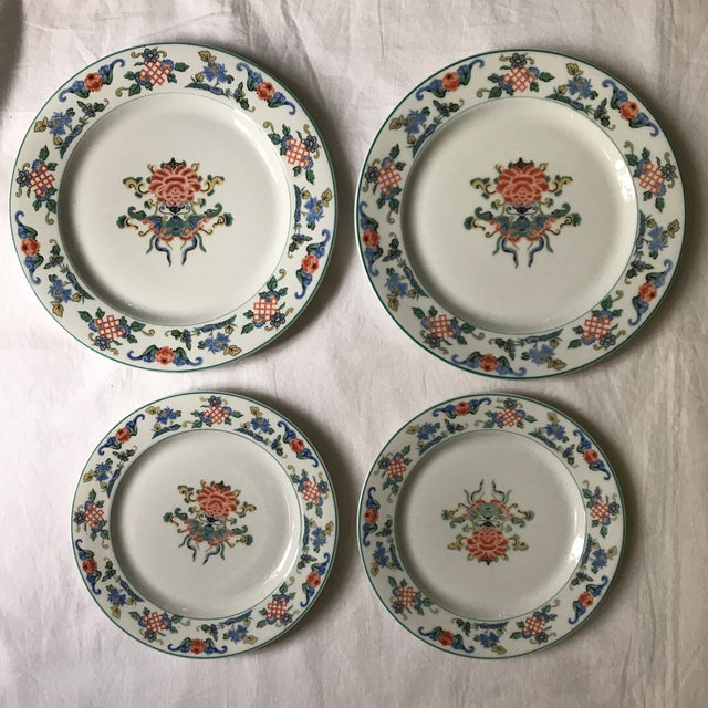 1919 Chinoiserie Dinner & Salad Plates - A Pair - Image 3 of 6