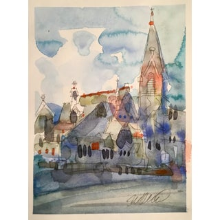 """""""First Presbyterian, Portland Or."""" Watercolor Painting For Sale"""