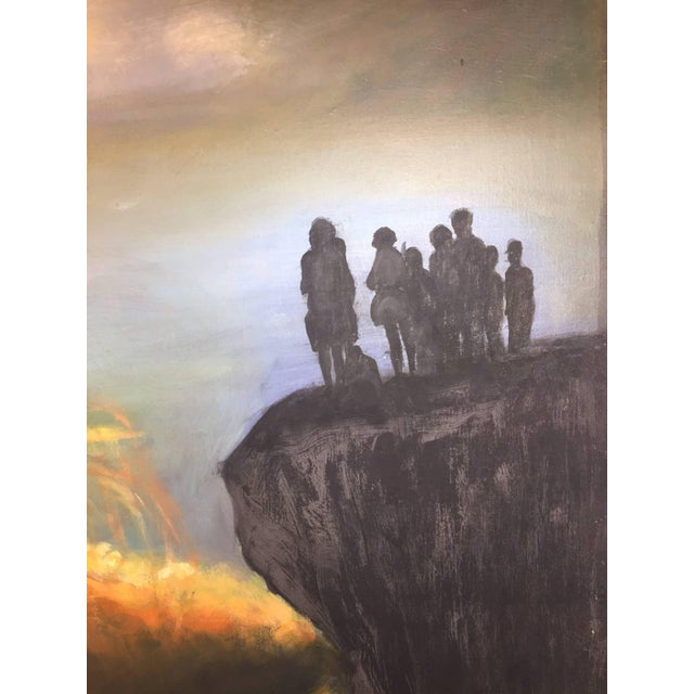 1970s Modern World Peace Painting by Artist John Dasho For Sale - Image 5 of 10