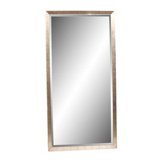 Reclaimed Commercial Brushed Nickel Mirror - 8' x 4' For Sale