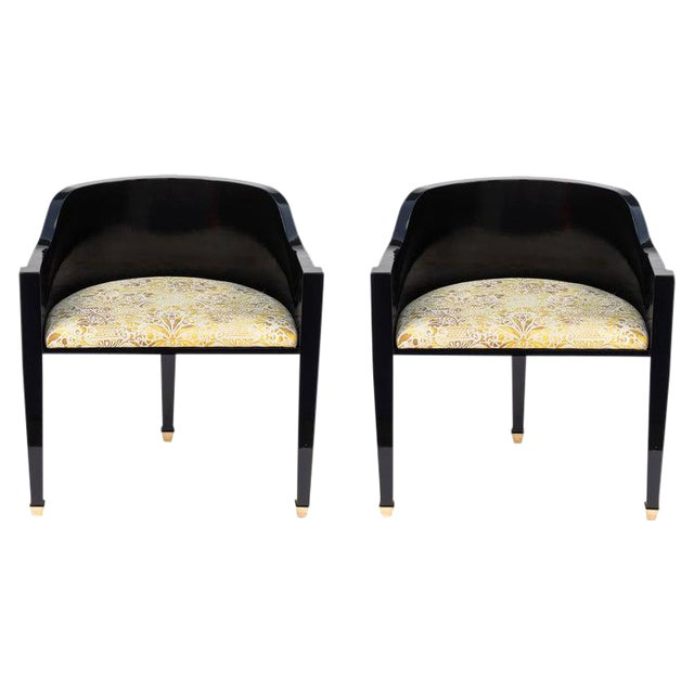Vintage Mid Century Hollywood Regency Style Chairs- A Pair For Sale