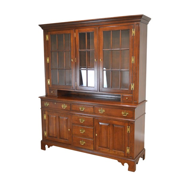 Councill Craftsman Cherry Pennsylvania Style Dutch Cupboard For Sale
