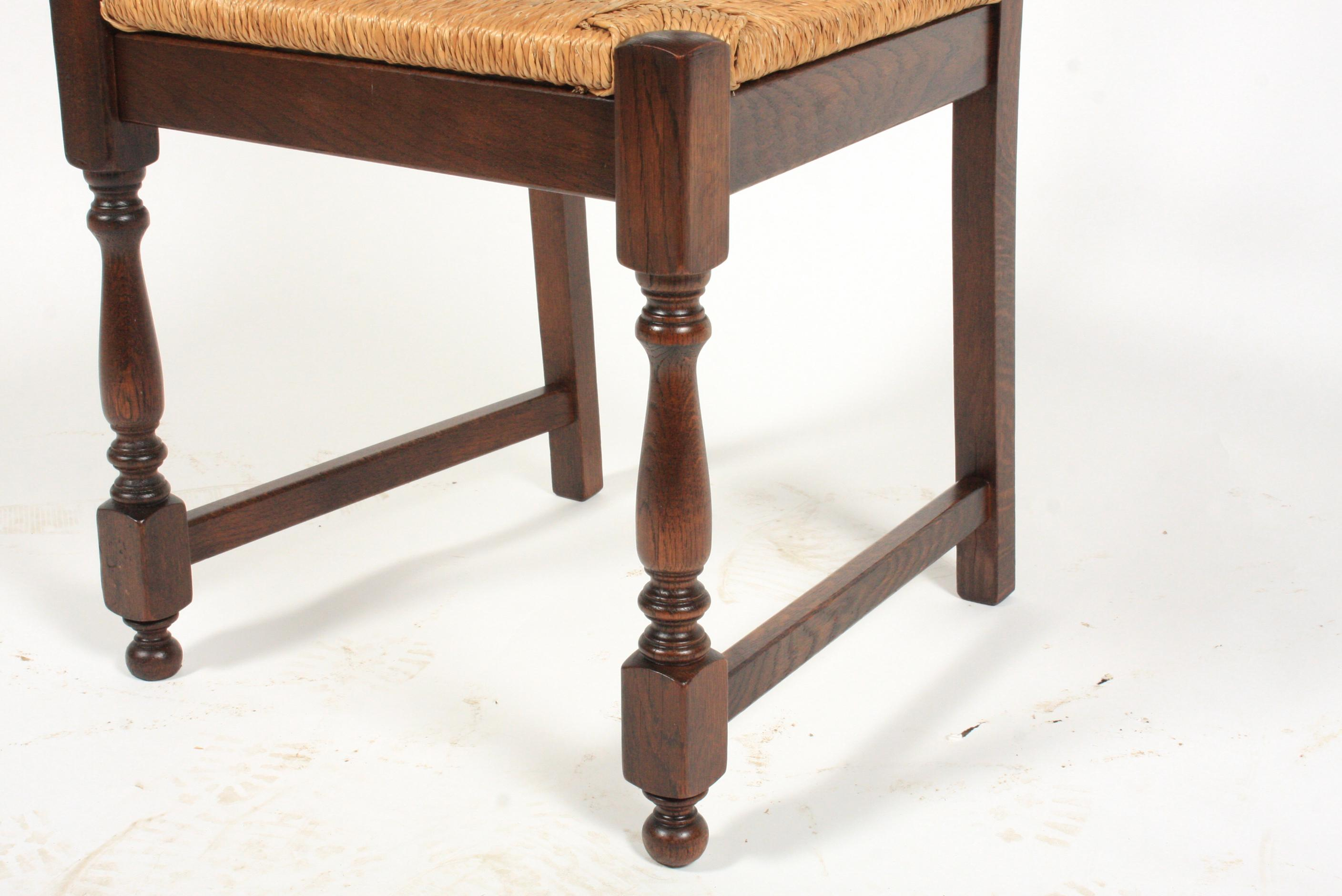 Vintage Belgian Jacobean Style Dining Room Chairs   Set Of 6   Image 6 Of 7