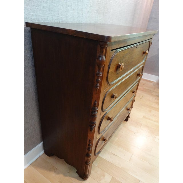 Antique 1800s 4-Drawer Mahogany Chest - Image 5 of 8