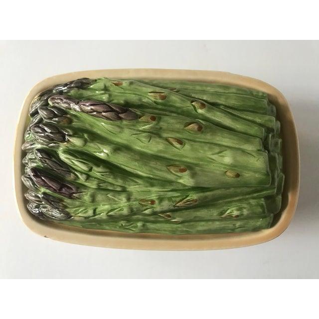 Vintage Ceramic Basket With Asparagus Lid For Sale - Image 11 of 12