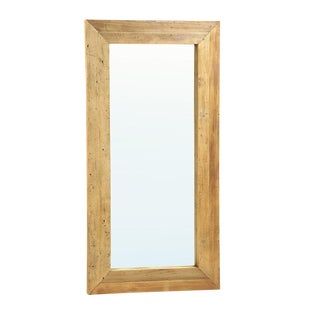 Rustic Full-Length Wooden Mirror For Sale