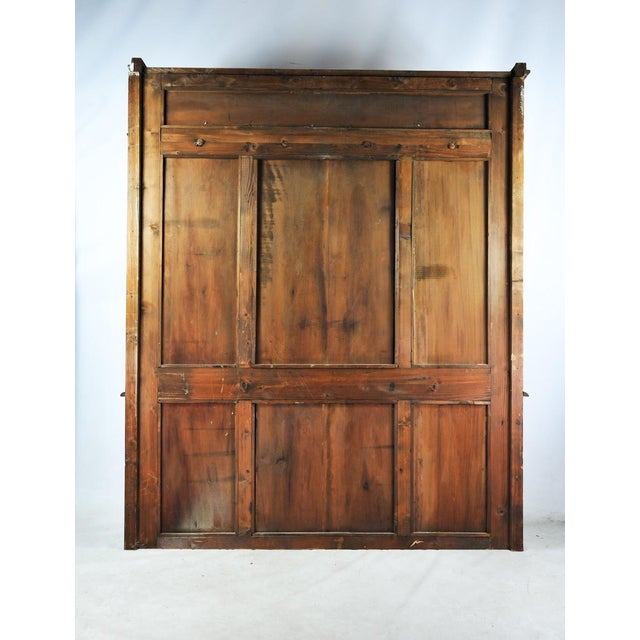 Old English Pub Built-In Hall Tree Bar Back For Sale - Image 10 of 11