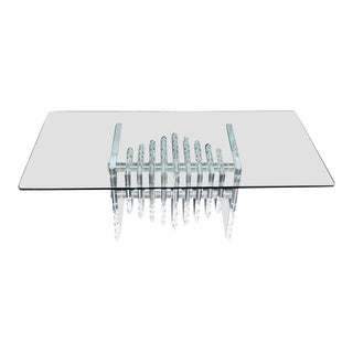 1970s Mid-Century Modern Lucite Coffee Table For Sale