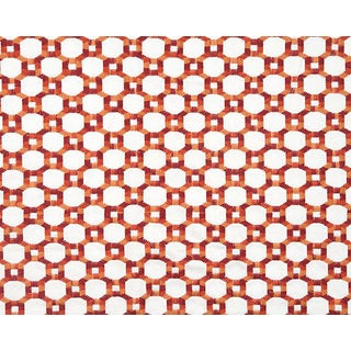 Hinson for the House of Scalamandre Island Trellis Fabric in Red For Sale