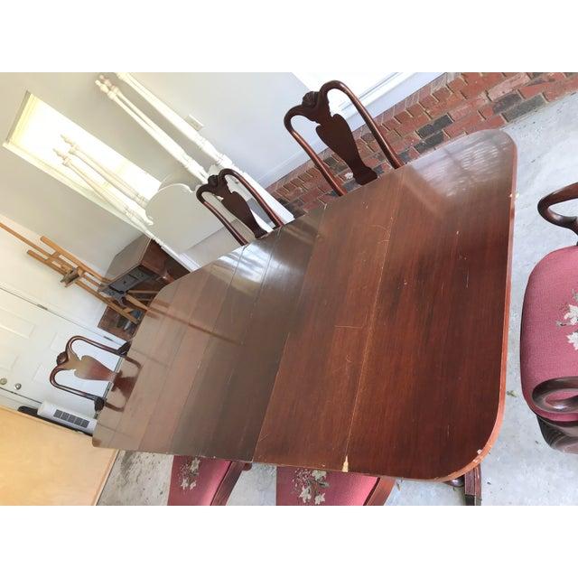1930's Duncan Phyfe Style Mahogany Dining Set - Image 7 of 13