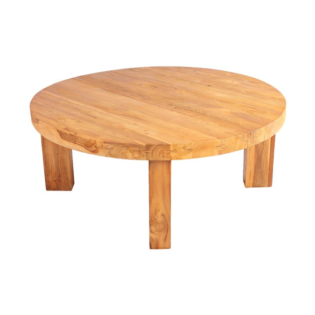Modern Round Teak Coffee Table Chairish, Round Teak Coffee Table