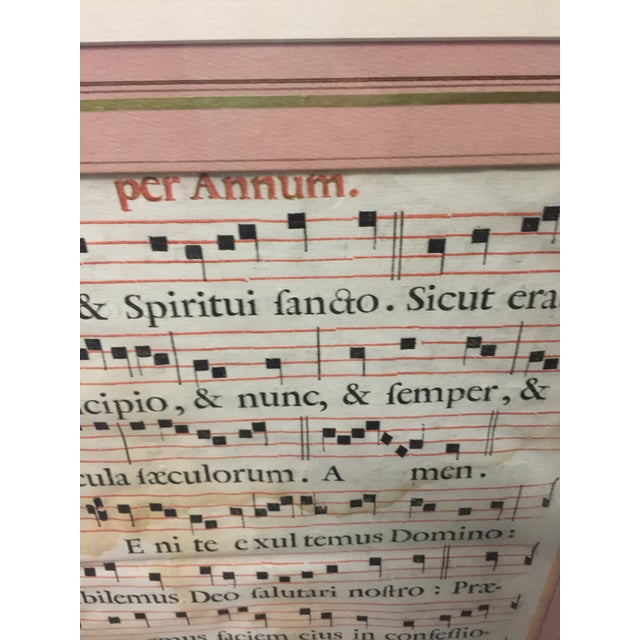 Italian Antique Sheet Music Circa 1700 Per Annum For Sale - Image 3 of 7