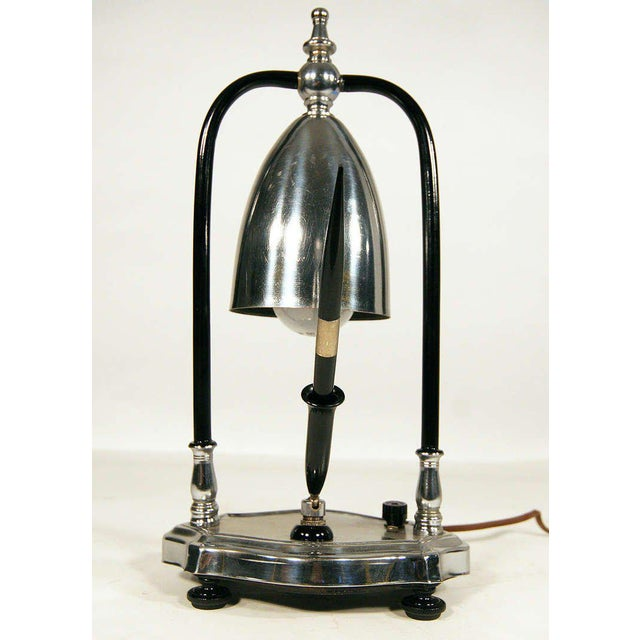 Art Deco Desk Lamp with Pen Holder - Image 2 of 6