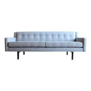 Mid-Century Modern Edward Wormley for Dunbar Bracket Back Grey Sofa
