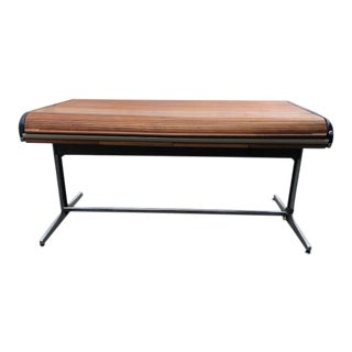 1960s Mid-Century Modern Herman Miller Tambour Roll Top Desk For Sale
