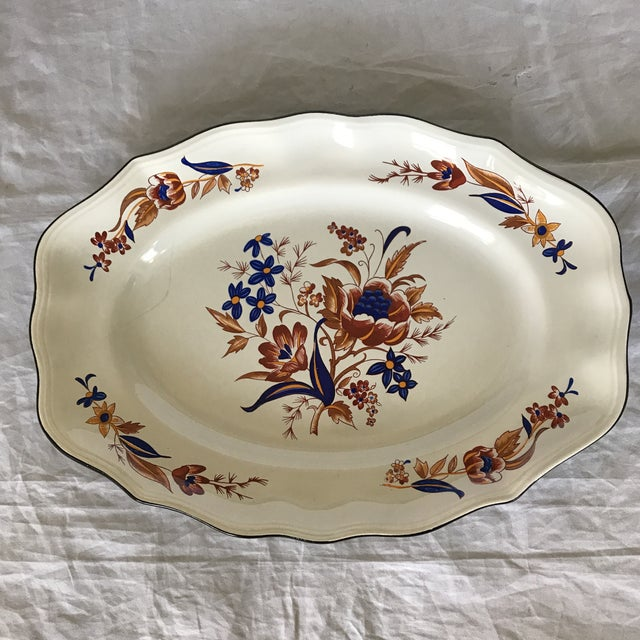 """Ceramic French Faience Luneville """"Paquerette"""" Serving Dish For Sale - Image 7 of 7"""