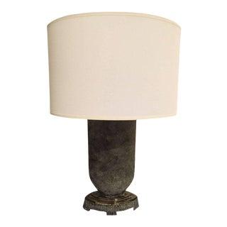 American DiPasquale Blue Ceramic Table Lamp