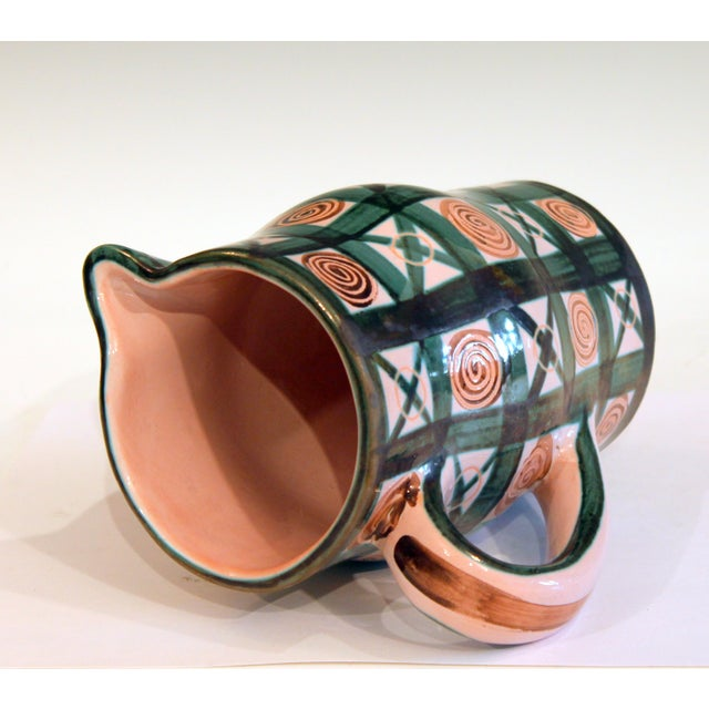 1960s Vintage 1960s Robert Picault French Studio Pottery Geometric Pitcher For Sale - Image 5 of 7
