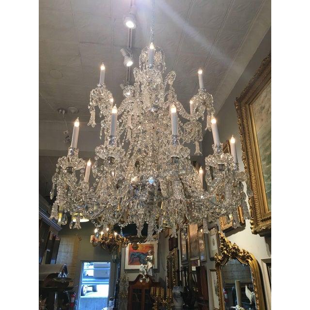 Antique Cut Crystal 18 Light Chandelier - Image 6 of 11