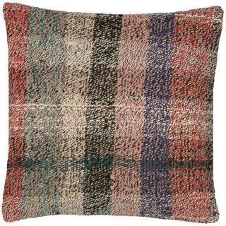 "1960s Turkish Hemp Pillow 18"" X 18"" For Sale"