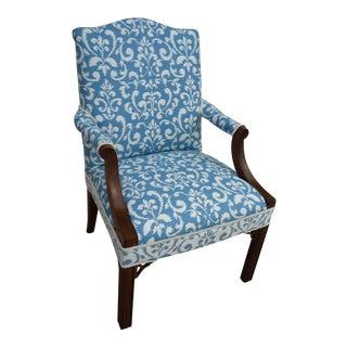 Blue & Ivory Walnut Chair