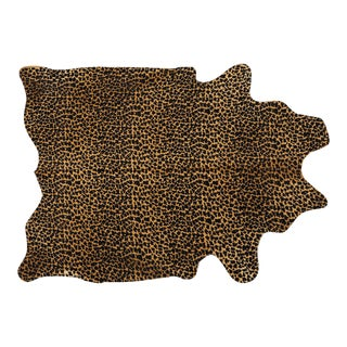 Leopard Print Genuine Brazilian Cowhide For Sale