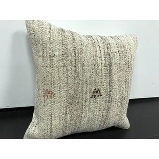 Vintage Turkish White Handmade Organic Pillow Preview