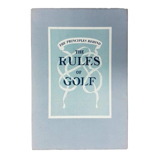 "1989 ""The Principles behind the Rules of Golf"" Collectible Book For Sale"