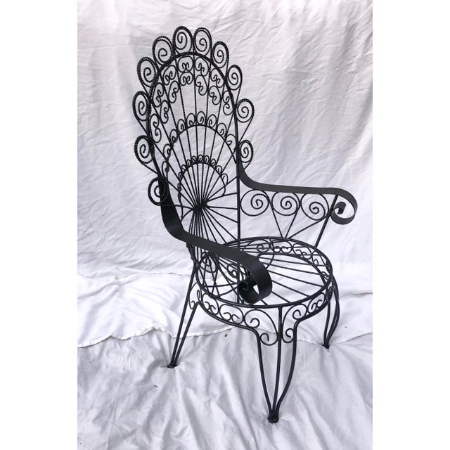 Salterini Vintage Wrought Iron Patio Chairs For Sale - Image 4 of 8